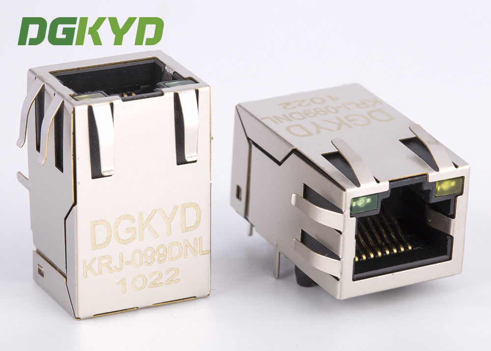 China Integrated magnetics RJ45 connector Single Port with transformer Modular Jack customized factory