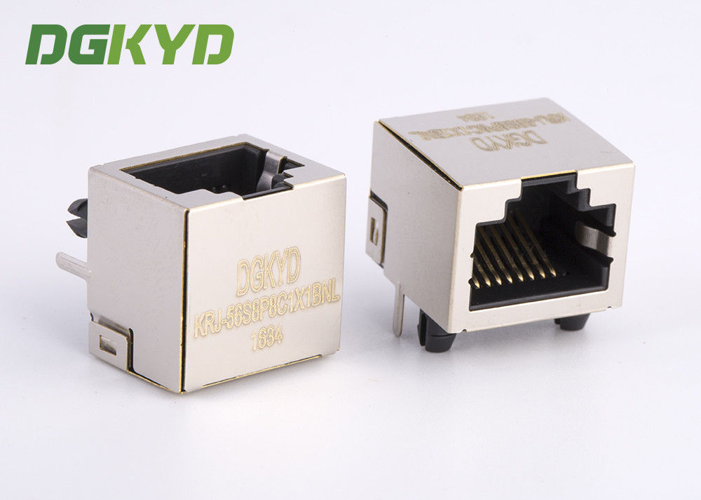 Single Port Side Entry 8P8C Ethernet RJ45 Shielded Connector RJ45 Modular Jack supplier