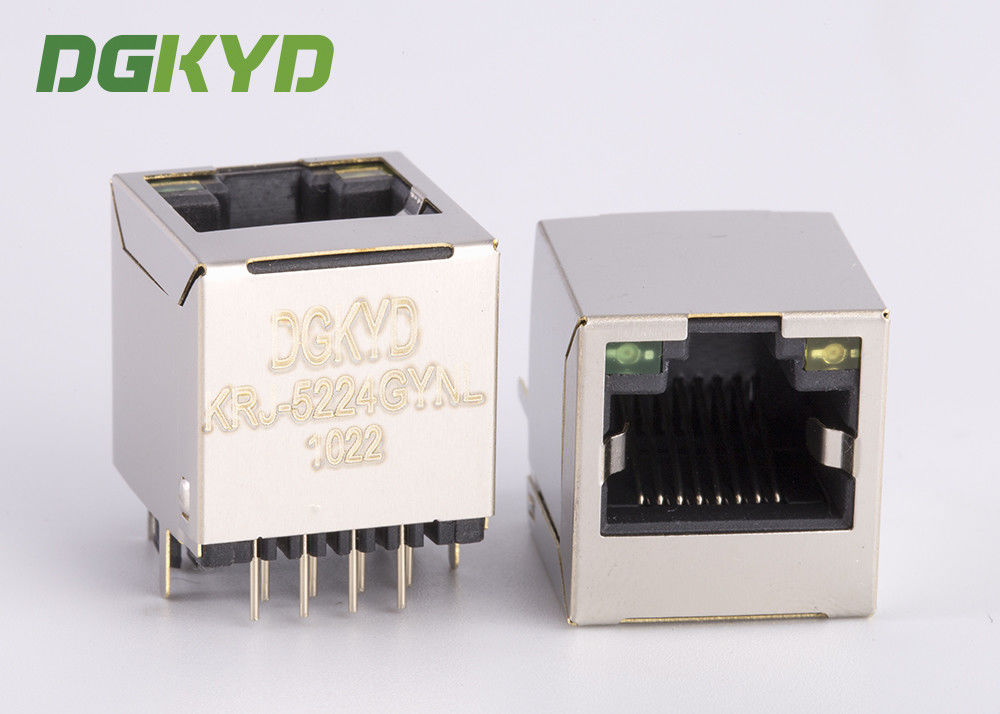 China Customized 16.10mm height 180 degree vertical entry RJ45 pcb jack ethernet socket factory