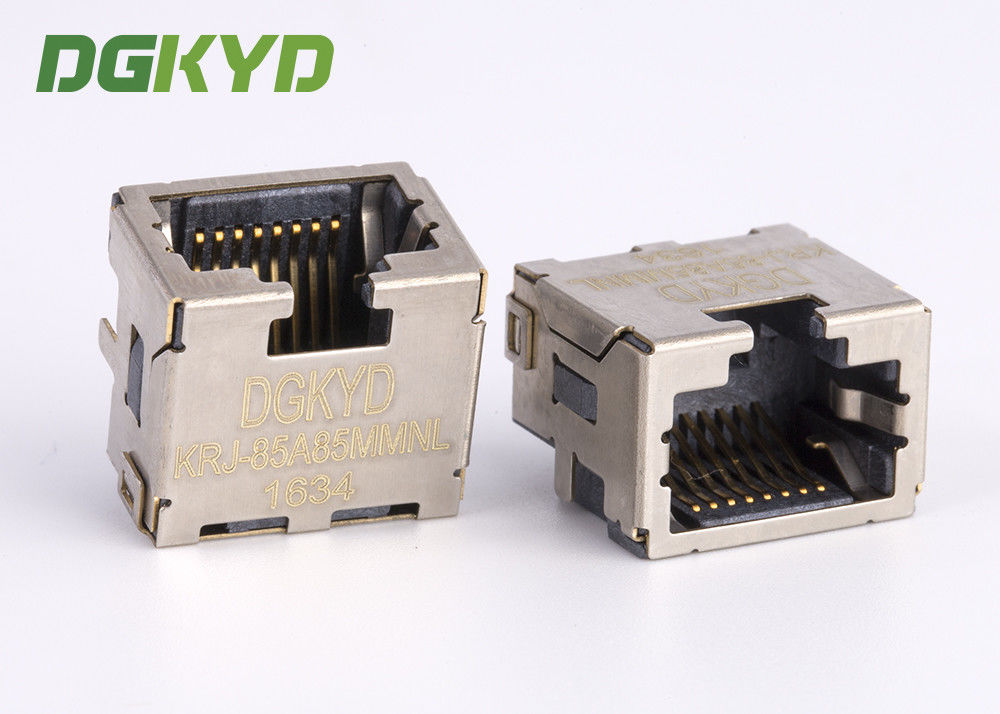 China Custom Shield 8p8c SMD / SMT Rj45 Keystone Jack Extra Low Profile Ethernet Connector factory