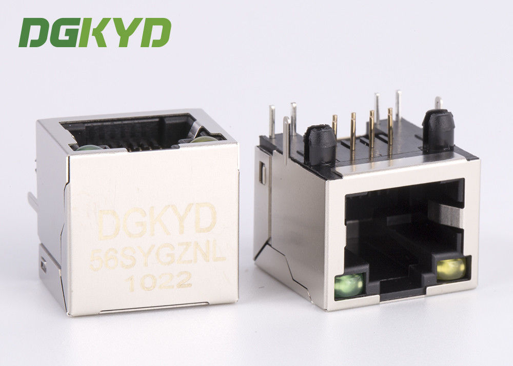 Single Port RJ45 shielded jack without transformer,10/100/1000BASE 8p8c connector supplier