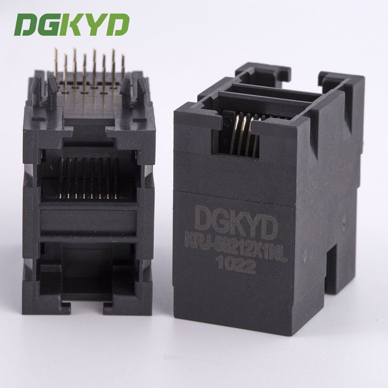 10/100 BASE Stack 2x1 dual port RJ45 female Jack double deck ethernet socket supplier