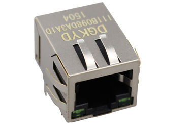 China 1X1 Tab Down integrated magnetic RJ45 Modular Jack With internal transformer distributor