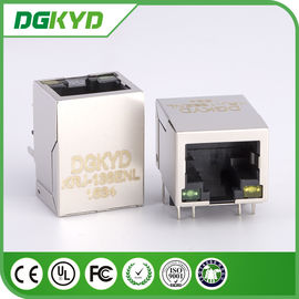 China 1 Port Shielded RJ45 with Transformer ethernet jack 100 base-TX Tab Down for router distributor
