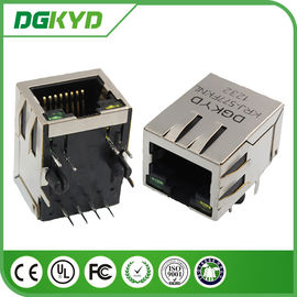 China Shielded cat 5 RJ45 Modular Jack Single Port with magnetics, Cylindrical Pin distributor