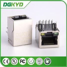 China factory KRJ-320DNL metal shielded single port gige cat6 rj45 jack with LED