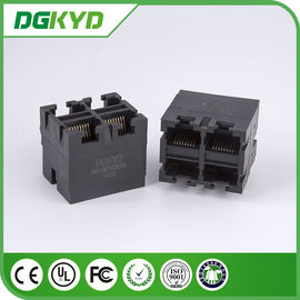 Metal Shielded 2X2 RJ45 Multiple Port connectors without transfomer
