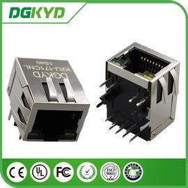 China Supplier KRJ-171CNL cat5 100 megabit integrated magnetics RJ45 Connector female with LED