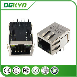 China Tap down Single Port 1000BASE rj45 10 pin connector , rj45 modular connector with led distributor