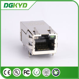 Customized 1000M 33.0mm Single Port 10 Pin Rj45 Connector with Transformer / Leds