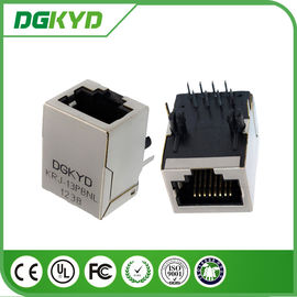 China Integrated rugged rj45 connectors filter without led for 10/100 BASE - TX , Cylindrical Pin distributor