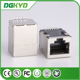 China Shielded network Low profile SMT rj45 connector wiith internal transformer distributor