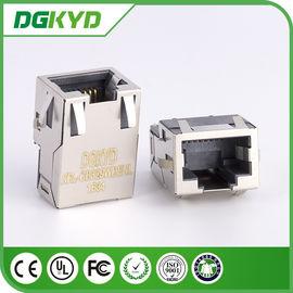 China KRJ-CB329WDENL Metal shielded 10/100/1000 cat6 Low profile rj45 connector with transformer distributor
