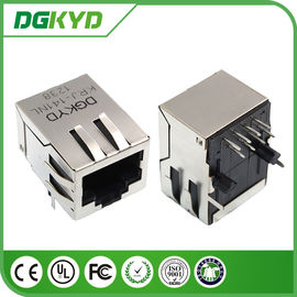 China Surface Mount shielded Ethernet cat6 rj45 connectors With Right Angle distributor