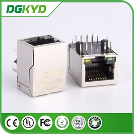 China Industrial Panel Mount modular jack cat6 rj45 with Internal Magnetics , HR911102A distributor