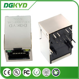 China Shieded cat5 Cat6 RJ45 jack 100M Network 8 pin connector Integrated magnetics for Router distributor