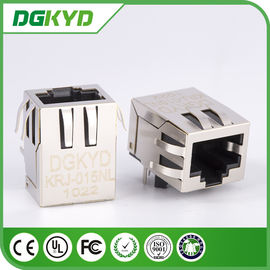 China Shield 10/100BASE Network Cat6 RJ45 Connector with EMI fingers , Rohs distributor
