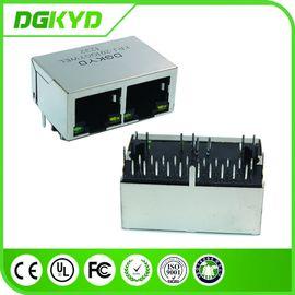 1000BASE 2 Port Tab Down RJ45 PCB Connector Transformer for Network