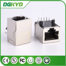 China KRJ -017NL Magnetics Shielded Rj45 Pcb Connector With Integrated Transformer distributor