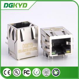China Led Panel Mount Single Port Rj45 Network Connector KRJ - 5921S11GYZENL distributor