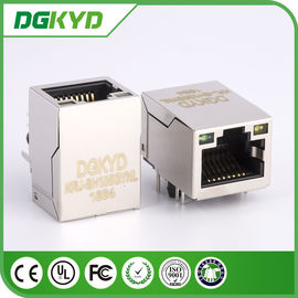 China KRJ-SH105GYNL cat5 8 pin rj45 connector with LEDs , 100 BASE - TX distributor