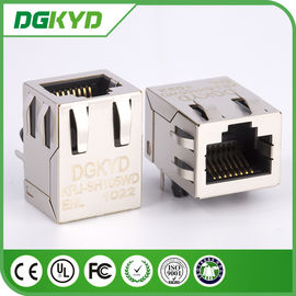 China KRJ-SH105WDENL metal shielded 100 BASE rj45 connector with magnetics distributor