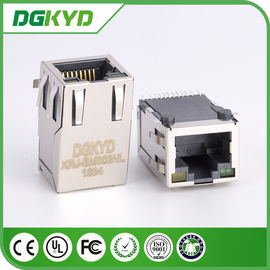 China KRJ - SM002NL metal shielded RJ45 PCB Connector , CAT5 rj45 smt connector distributor