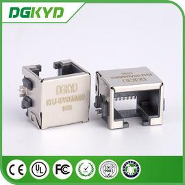China Fully shield rj45 extra low profile LAN jack, 8p8c ETHERNET SMD distributor