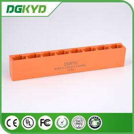 China Orange KRJ -592118NL Unshielded 8 Ports Rj45 8 Pin Connector Jack For Ethernet Switch distributor