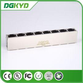 China Metal Shielded KRJ -5921S1X8NL RJ45 Multiple Port Connectors Ethernet Interface distributor