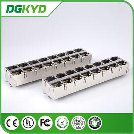 China KRJ -5921S28NL 180 Degree Vertical RJ45 Multiple Port Connectors No LED 0811-2X8T-28 distributor