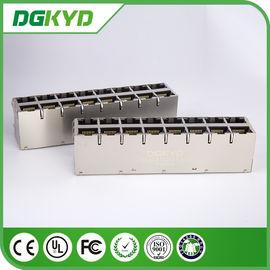 China DGKYD28Q077DG1A4D Cat6 RJ45 Magnetics , 1000 baseT RJ45 Shielded Connector distributor