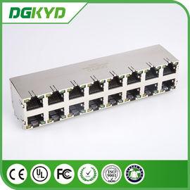 China KRJ -5921S2X8NL Stack RJ45 Female Jack 2X8 Port No LEDs 0811-2X8R-19-F RoHS distributor