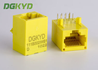 China Yellow Color Unshielded Rj45 Modular Jack With Transformer , 100 Base - T distributor