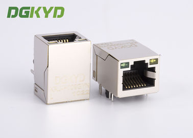 China KRJ-H009GYNL Gigabit network jack rj45 keystone module Single port with LEDs distributor