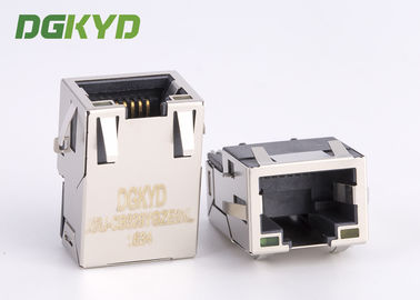 China SMT Sinking below PCB 1000BASE Integrated Magnetics rj45 network jack for gigabit ethernet distributor