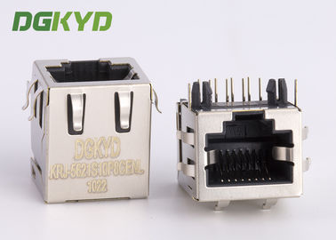 China Shielded pcb mount female rj45 keystone Jack 10p8c connector , side entry distributor