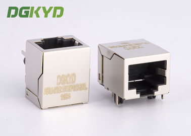 China 10p8c Female Rj45 Keystone Jack Without Integrated Transformer , tab down distributor