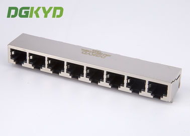 China KRJ -5921S1X8NL Metal Shielded RJ45 Multiple Port Connectors Ethernet Interface distributor
