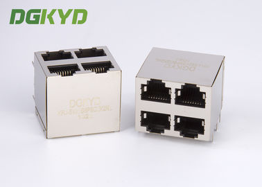 China KRJ-5921S8P8C2X2NL Shielded Ethernet Rj45 Jack Stack Mj Assy 8pos 2x2 Cat5 distributor