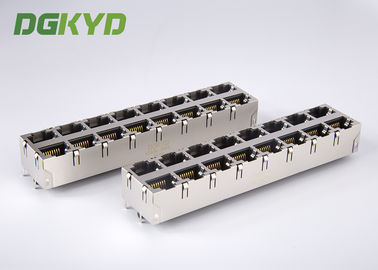 China KRJ-5921S28NL 180 Degree Vertical RJ45 Multiple Port Connectors 16 port 0811-2X8T-28 distributor