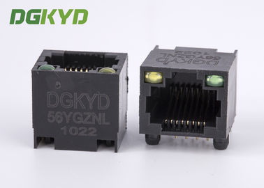 China DGKYD-56YGZNL Unshielded Ethernet Connector Rj45 Single Port with Y/G Led distributor
