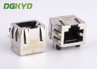 China KRJ - 56S8P8C1X1WDNL 10 Base - TX Rj45 Shielded Connector Ethernet Rj45 Single Port distributor