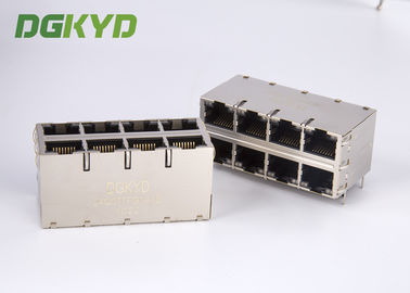 China Custom Integrated RJ45 Jack dual deck 2x4 gigabit ethernet connector technical grade distributor