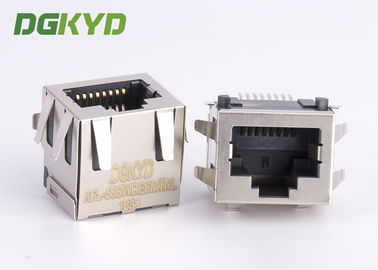 China Customized Pcb Mount SMD / SMT Low Profile RJ45 Single Port 10/100/1000 Base-Tx RJ45 distributor