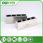 Factory price KRJ-415GYZHNL metal shielded 1x4 cat5 quad port rj45 connector with LED
