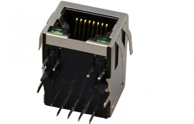 Single Port shielded RJ45 Female Connector with internal isolation Transformer