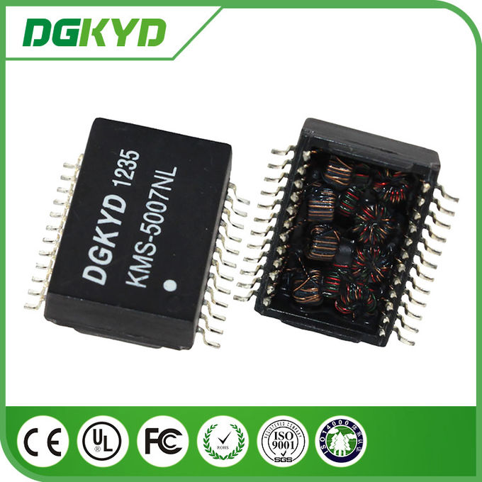 High Voltage Safety 24 PIN Power Isolation Transformer SMD for 1000BASE